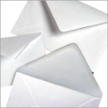 IMAJET 50 x Square 133mm Diamond White Gummed Envelopes for square greeting cards