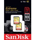 32GB SDHC Cards - Sandisk TWIN PACK EXTREME - 90MB/s (2)